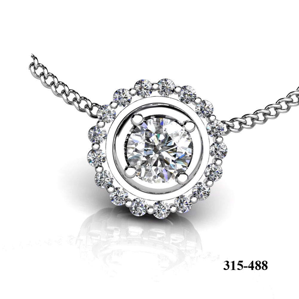 Kim Phat diamond engagement pendant