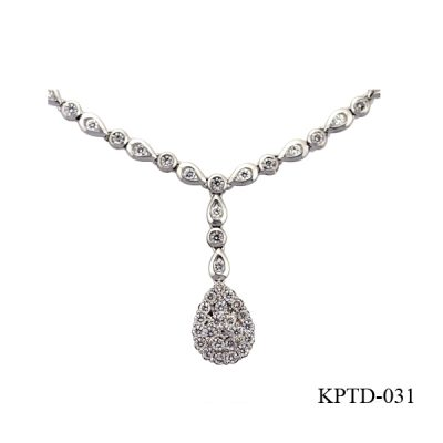 Lam's style 18kt diamond necklace