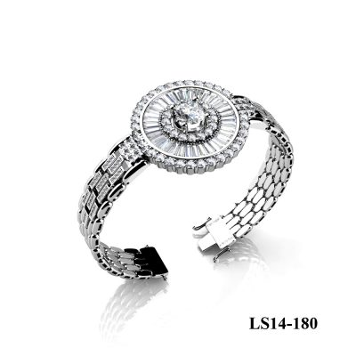 Diamond bracelet 18kt White gold with 2.21 carats of Baquette