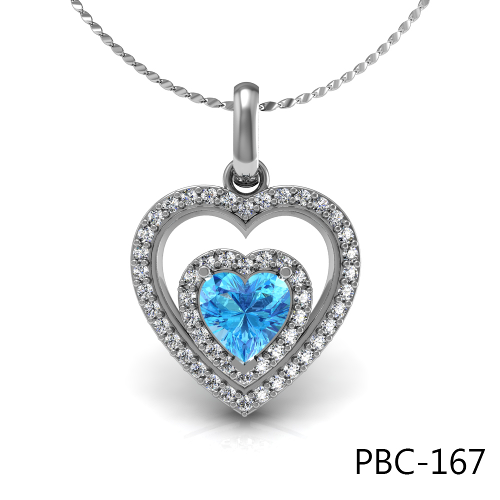 Wholesale pendants kp jewelry jewelry wholesaler and manufacturer diamond pendant 18kt with topaz aloadofball Gallery