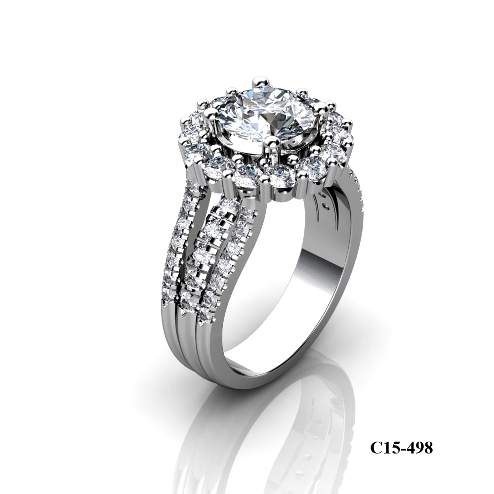 Kim Phuoc diamond engagement ring