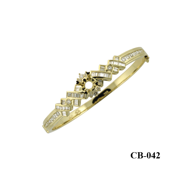 Diamond Bangle 18kt yellow gold