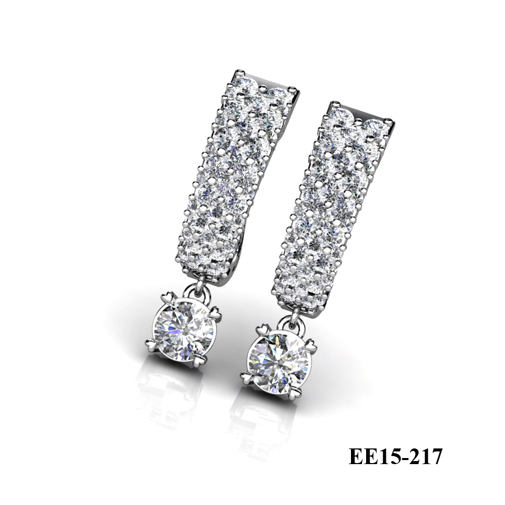 KP's diamond engagement earring