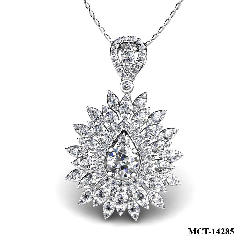 Lam's design diamond pendant 18kt