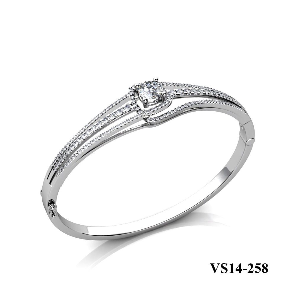 Kim Phuoc diamond engagement bangle